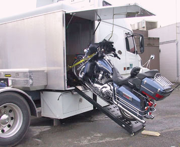 Toy Trax Motorcycle Hauler Lift
